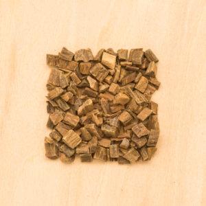 Guaiac wood cut