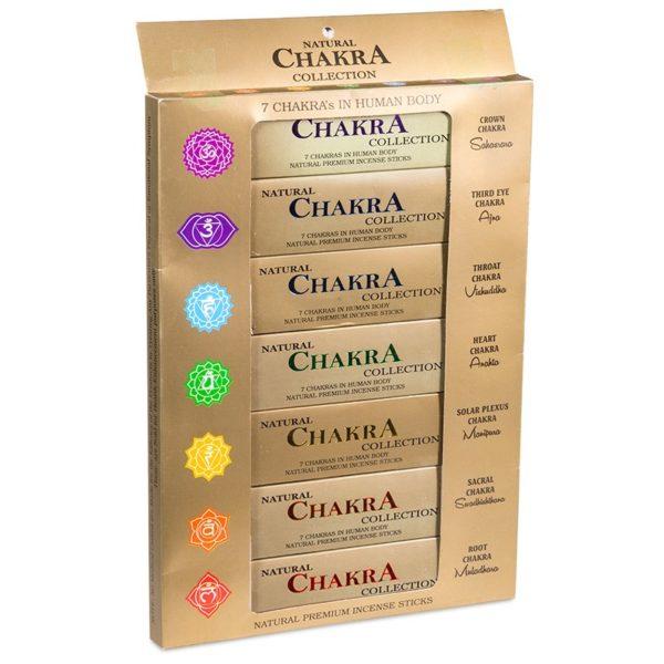 7 Chakras incense sticks front