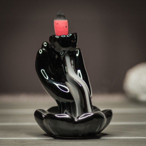 Incense Burner Hand and Lotus smoke preview