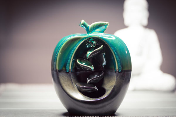 Incense Burner Waterfall Apple front view