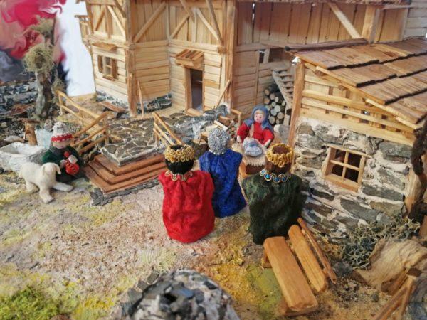 Incense Christmas crib